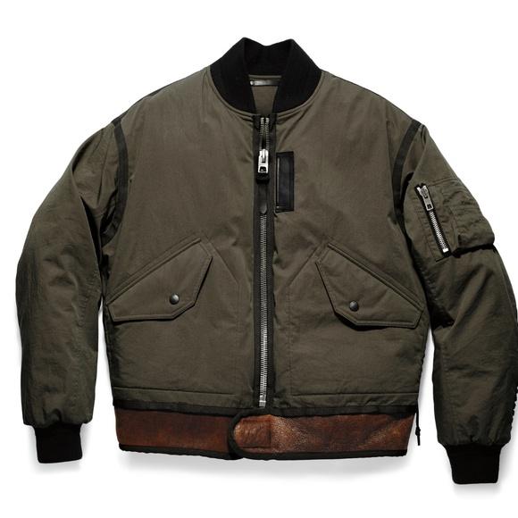 e5baf7caf305 Coach MA-1 Military Style Bomber Jacket OD Green